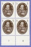 DDR SC #352-4 (SET/3) MNH B4 1957 Portraits / German Scientists, CV $7.00 (I) - [6] Democratic Republic