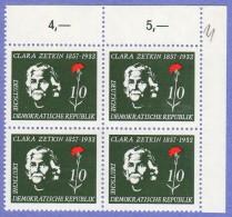 DDR SC #361 MNH B4 1957 Clara Zetkin, CV $2.40 - [6] Democratic Republic