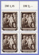 DDR SC #355-60 (SET/6) MNH B4 1957 Paintings, CV $20.00 (I) - [6] Democratic Republic