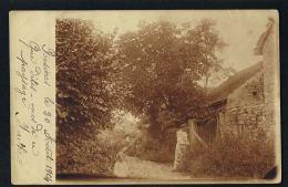 ROSIERES -Hte Saone- CARTE PHOTO -Maison Jeune Femme Enfant - Voyagée En 1904-Recto Verso-Paypal Sans Frais - Francia