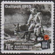 AUSTRALIA - DIE-CUT - USED 2015 70c Centenary Of World War I-1915 Gallipoli-Field Medicine - Donkey - 2010-... Elizabeth II