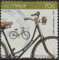 AUSTRALIA - DIE-CUT - USED 2015 70c Bicycles - Ladies' Saftey Bike 1910 - 2010-... Elizabeth II