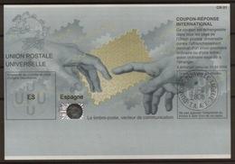 ANTARCTICA T.A.A.F.  O DUMONT D'URVILLE T. ADELIE 2.II.2008 Redemption On Reply Coupon Reponse  Espagne Pe32 Hologram - Ganzsachen