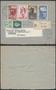A867 France Devant De Lettre Recommandée De Paris à Mulhouse 1954 - France