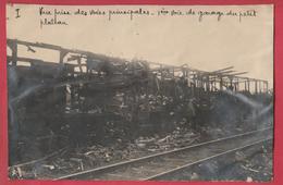 Identifié à Luttre - Bombardement De Convoi Ferroviaire En 1944 - 1- Photo 15 Cm /10 Cm ... Document Unique - War 1939-45