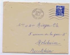 62 SAINT OMER  ENVELOPPE OBLITEREE EN 1953 - Vieux Papiers