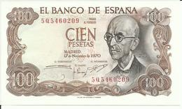 BILLETE 100 PESETAS, 17/11/1970  ( SIN CIRCULAR) - 100 Pesetas