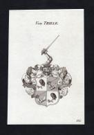 """Von Thiele"" - Thiele Wappen Adel Coat Of Arms Heraldry Heraldik Kupferstich Engraving - Prints & Engravings"