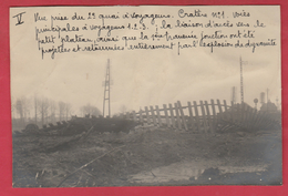 Identifié à Luttre - Bombardement De Convoi Ferroviaire En 1944 - 5 - Photo 15 Cm /10 Cm ... Document Unique - War 1939-45