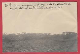 Identifié à Luttre - Bombardement De Convoi Ferroviaire En 1944 - 6 - Photo 15 Cm /10 Cm ... Document Unique - War 1939-45