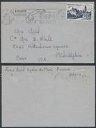 A886 France Lettre De Paris à Philadelphia  ( USA ) 1952 - France