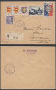 A897 France Lettre Recommandée De Nimes à Connaux 1951 - France
