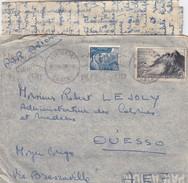 LETTRE AVEC CORRESPONDANCE. 3 SEPT 1947.  POUR OUESSO MOYEN CONGO RARE DESTINATION - 1921-1960: Moderne