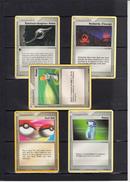 LOT De 5 Cartes POKEMON      TRAINER  Pokemon  Differentes  Etat Neuf - Kartenspiele (traditionell)