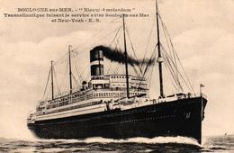 BOULOGNE SUR MER -62- NIEUW AMSTERDAM TRANSATLANTIQUE FAISANT LE SERVICE ENTRE BOULOGNE SUR MER ET NEW YORK - Boulogne Sur Mer
