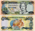 BAHAMAS       ½ Dollar / 50 Cents       P-68       2001       UNC  [ Half - 1/2 ] - Bahamas