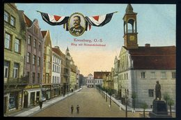 Cpa Pologne Kreuzburg O.-S.   Ring Mit Bismarckdenkmal     NCL79 - Pologne