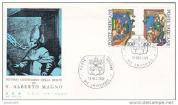 Vatican City 1980 St Albert The Great FDC Vaticano - FDC