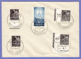 DDR SC #155(4) + 206 1954 Four Power Conf., #155: 3 W/Hotel Cancels - Covers