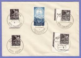DDR SC #155(4) + 206 1954 Four Power Conf., #155: 3 W/Hotel Cancels - [6] Democratic Republic