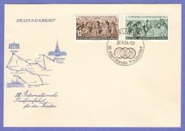 DDR SC #208-9 1954 Bicycle Peace Race FDC 04-30-1954 - [6] Democratic Republic