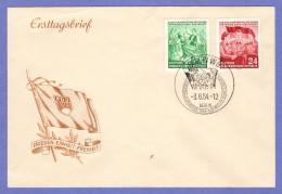 DDR SC #210-1 1954 German Youth Meeting FDC 06-03-1954 - [6] Democratic Republic