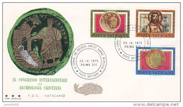 Vatican City 1975 IX Intrernational Archaelogical Congress FDC Vaticano - FDC
