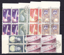 Czechoslovakia 1961 Space 6v Bl Of 4  Used (35933A) - Space