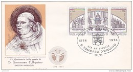 Vatican City 1974 S. Tommaso D'Aquino FDC - FDC
