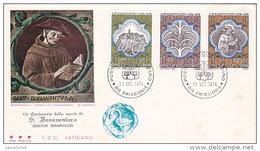 Vatican City 1974  S. Bonaventura FDC Vaticano - FDC