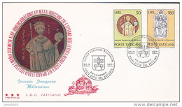 Vatican City 1971 Hungary Millennium FDC - FDC