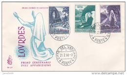 Vatican City 1958 Lourdes Venetia FDC - FDC