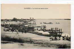 Afrique      ZAMBEZE   La Flotille Des Canots Royaux - Zambie