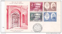 Vatican City 1957 V Centenary Capranicus College FDC - FDC