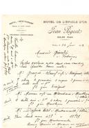Vieille Facture Hotel-restaurant Repas à Toute Heure Hotel De L'etoile D'or Jean Pigeat Culan (cher) - France