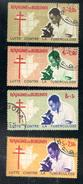 Poste BURUNDI 1965 - 4 Timbres Collection Lutte Contre La Tuberculose - 1962-69: Afgestempeld
