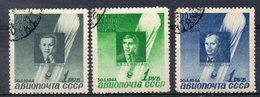 RUSSIE - URSS  Timbres De Poste Aérienne N° 67 / 69 De 1944 ( Ref 22H ) - 1923-1991 USSR