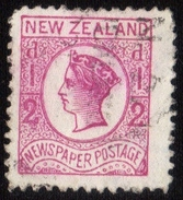 """Scott P4a Used Unwatermarked 1892 New Zealand Queen Victoria""""Newspaper Stamp"""" Perf 12-1/2 X 12-1/2 Very Fine... - 1855-1907 Crown Colony"""