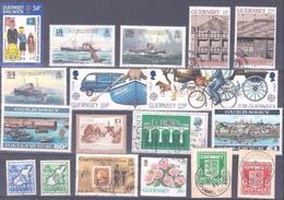 GUERNESEY : COLLECTION  NEUFS ET OBLITERES. COTE 40 EUROS. PARFAIT ETAT. - Guernesey