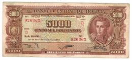Bolivia 5000 Bs. 1945, P-150, F/VF. - Bolivia