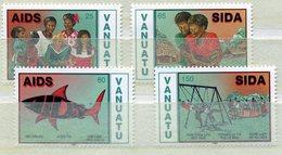 VANUATU 1991  -   AIDS - SIDA 4 TIMBRES NEUFS SANS CHARNIERE - Vanuatu (1980-...)