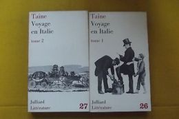 Voyage En Italie 2 Tomes Taine N° 26_27 - Other Collections