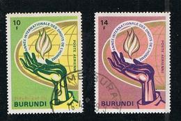 Poste BURUNDI 1969 - 2 Timbres Collection Année Internationale Des Droits De L'homme - 1962-69: Afgestempeld