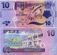 FIJI       10 Dollars       P-116a      ND (2013)       UNC - Fidji