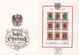 Austria FDC 1976 1000 Jahre Österreich Souvenir Sheet  (LAR5-17) - FDC