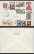 A912 France Lettre Recommandée De Paris à Sete 1952 - France