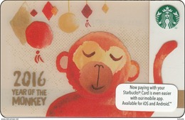 Malaysia Starbucks Card  Happy New Year 2015-6115 - Gift Cards