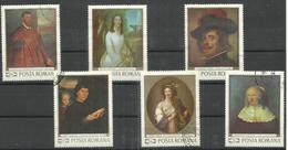 """Rumänien 2796-2701 """"6 Briefmarken Im Satz Zu Gemälden"""" Gestempelt Mi. 2,60 - Oblitérés"""