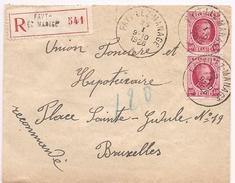 Recommandée Uit 1926 Vanuit Fayt-Lez-Manage (mooie Stempels) - Documents De La Poste