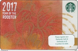 Thailand Starbucks Card Cinese New Year Rooster2016 - 6133 - Gift Cards